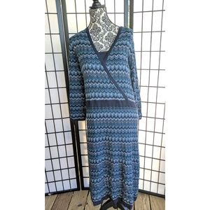 Lane Bryant Crochet Dress Blue 26/28